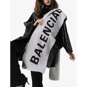 Balenciaga 'Archetype' Oversized Logo Wool Scarf